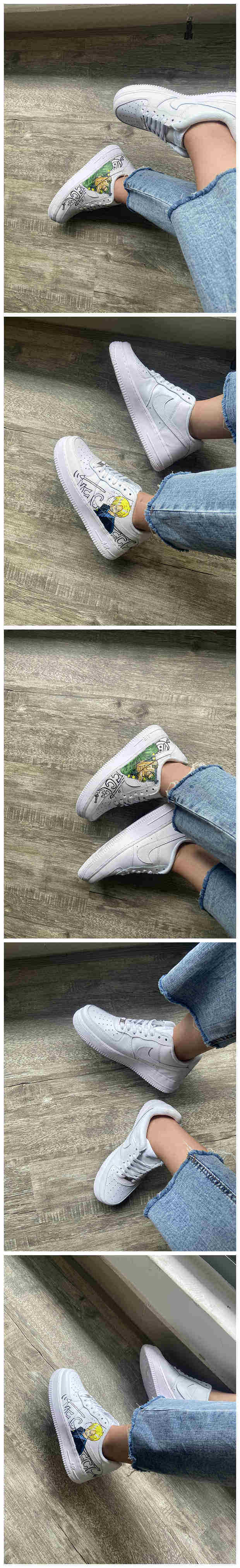 Custom One Piece Shoes For Sanji And Zoro Air Force 1 White Graffiti Hand Painted Sneaker - A002Custom One Piece Shoes For Sanji And Zoro Air Force 1 Graffiti Hand Painted Sneaker - The Zero Custom